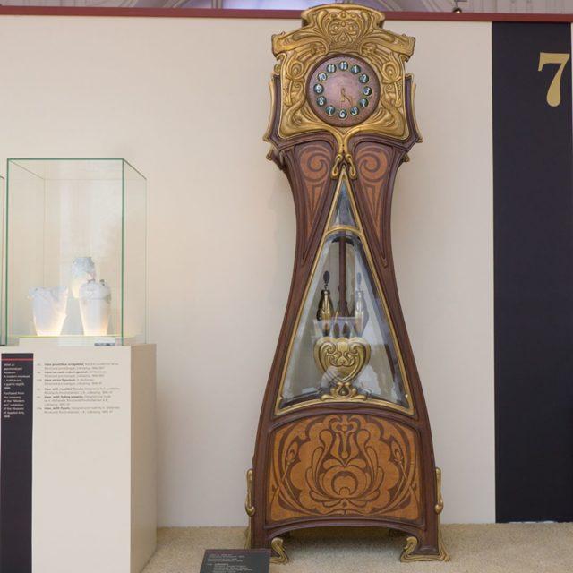 Tall case clock designed by FrigyesSpeigel 1899 in ArtNouveau hellip