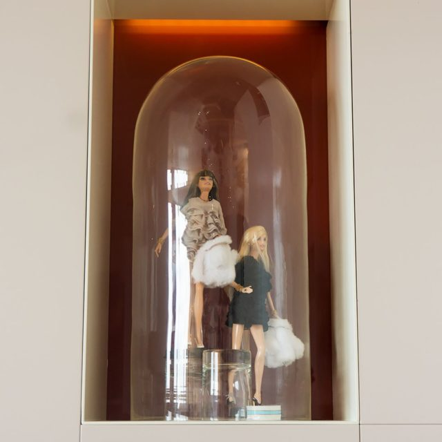 fashion dolls as part of the interior of the Panoramahellip