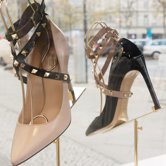 great idea Valentino heels with leather straps highfashion fetishism