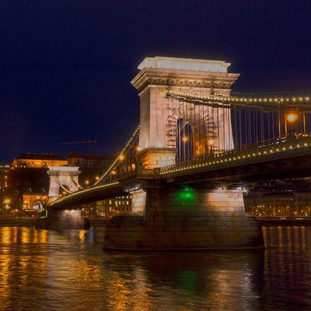ArchiTour by night Budapest ChainBridge  SzchenyiLnchd designed by thehellip