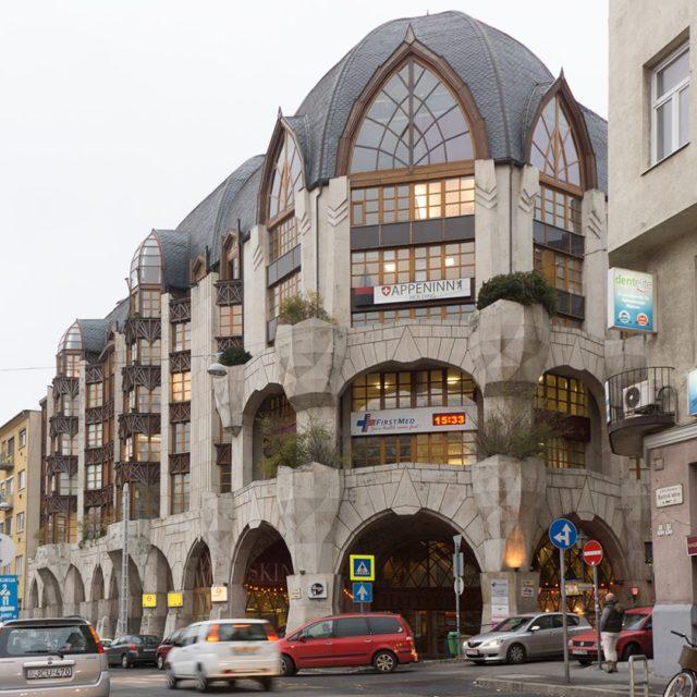 ArchiTour Budapest SwanHouse  HattyHz from 1998 designed by ErvinNagyhellip
